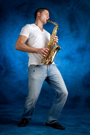 man with sax