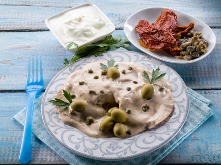 vitello tonnato - veal with tuna and capers