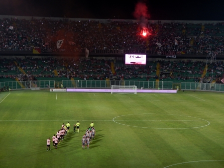 PALERMO, ITALY - August 11, 2013 - US Citta di Palermo vs US Cremonese - TIM CUP