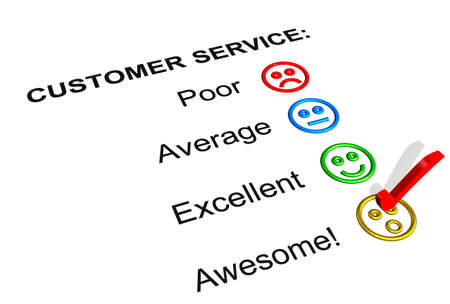Customer Service Feedback Form Showing an Awesome Rating