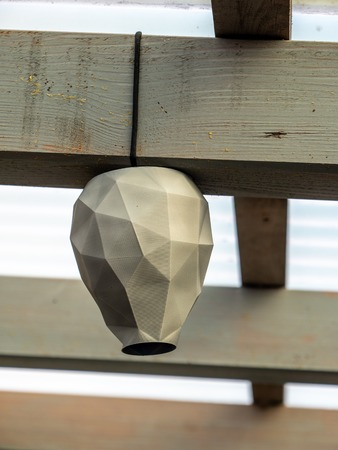 artificial wasp nest to keep them away 3d printed lookalike homemade