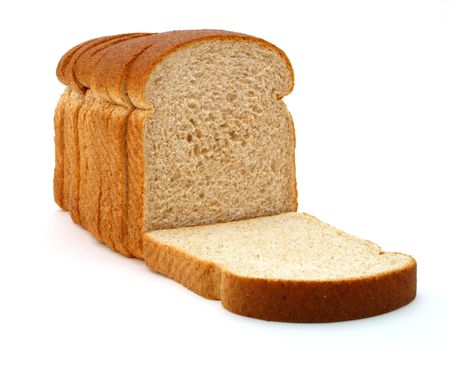 several slices of whole grain bread over a white surface
