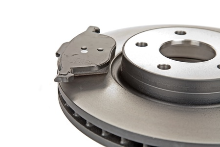 brake disk and one brake pad