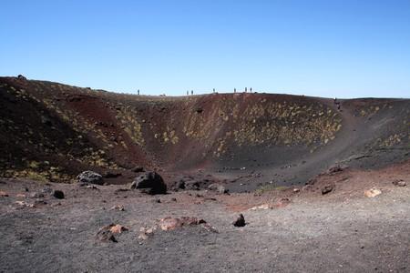 An Etna extinct crater