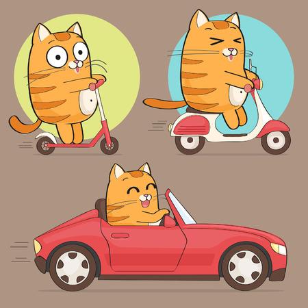Ilustración de Cute cat character - Imagen libre de derechos
