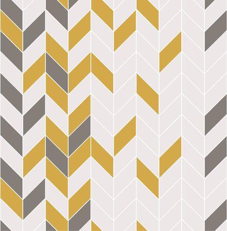 Illustration pour Vector seamless pattern with modern rectangular herringbone tiles. Geometric diagonal texture. Vector illustration - image libre de droit