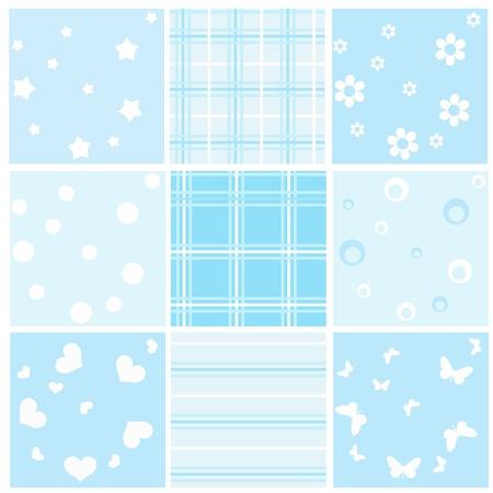 Illustration for Set blue baby seamless. Vector  illustration. - Royalty Free Image