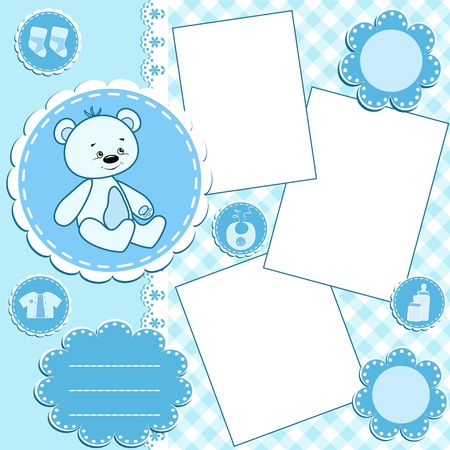 Photo for Baby album page.Blue. - Royalty Free Image