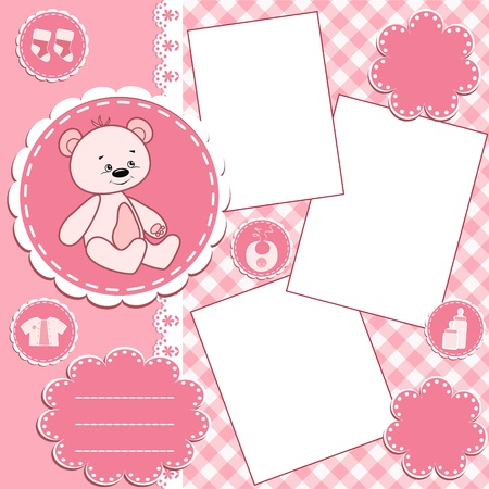 Photo for Baby album page.  - Royalty Free Image