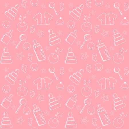 Foto de Pink baby seamless.  - Imagen libre de derechos