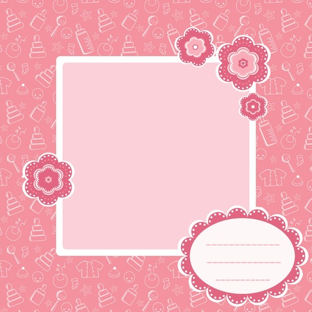 Photo for Pink  baby pattern. - Royalty Free Image