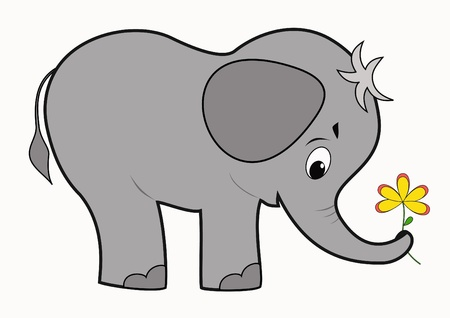 Illustration for Funny baby elephant  - Royalty Free Image
