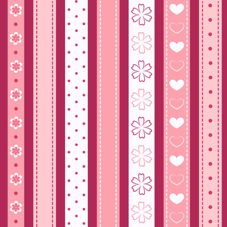 Set pink ribbon