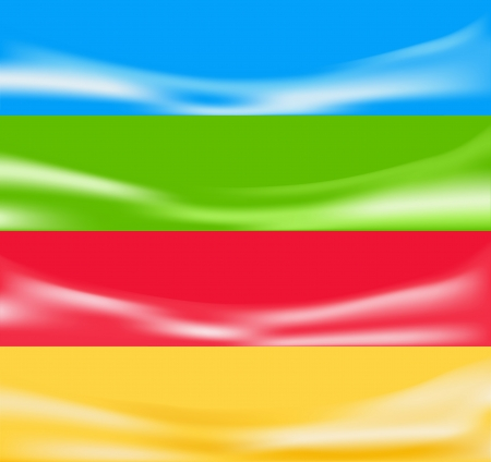 Abstract background  Four banners