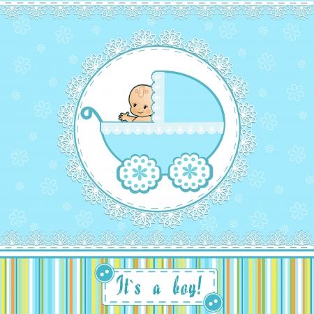 Foto de Baby Shower card   Vector illustration  - Imagen libre de derechos