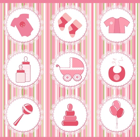 Photo for Baby labels  Design element - Royalty Free Image