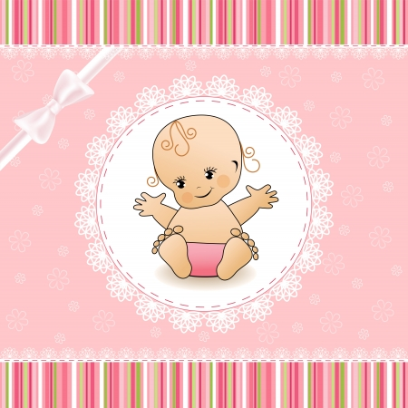 Illustration for Baby Shower card  - Royalty Free Image
