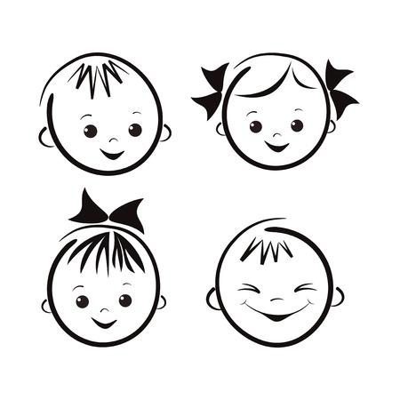 Photo pour Laughing children - image libre de droit