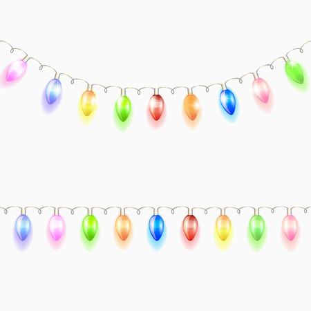 Illustration pour Christmas light garland. Vector illustration. - image libre de droit