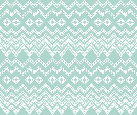 Baby Blue Ethnic Pattern
