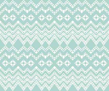 Baby Blue Ethnic Pattern Wallpaper