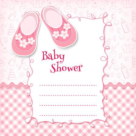 Illustration for Baby shower card. Vector illustration. - Royalty Free Image