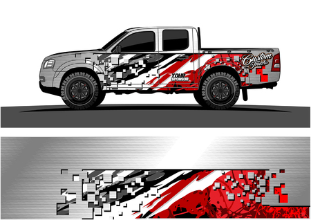 e29446b419 Truck graphic vector. Abstract grunge background design for vehicle vinyl  wrap