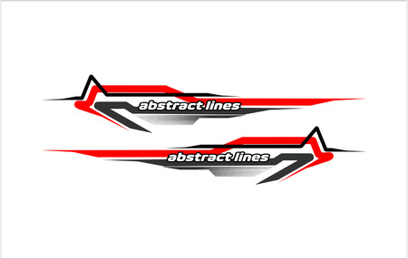 abstract modern shape lines vestor design for car sticker and vehicle branding