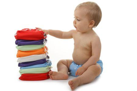 Photo pour baby and diaper - image libre de droit