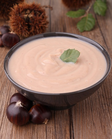 bowl of chestnut soup