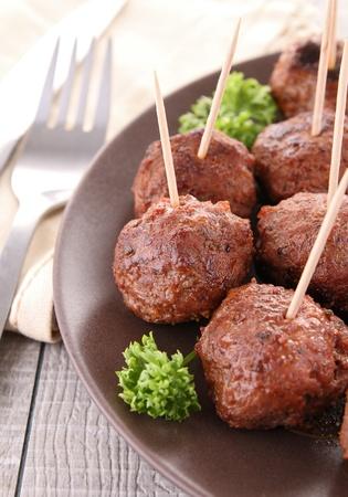appetizer, meatball