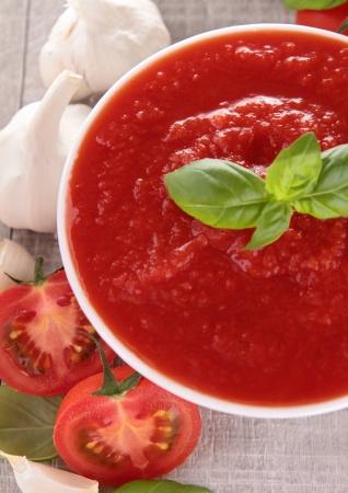 bowl of tomato sauce/soup