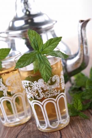 mint tea and teapot