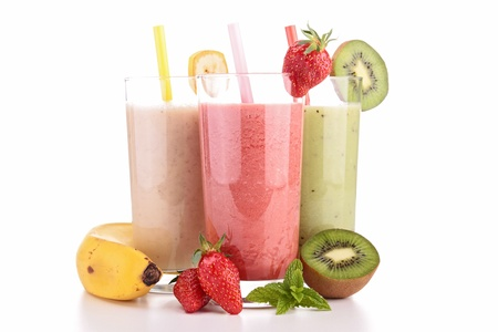 assortment of smoothiesの写真素材