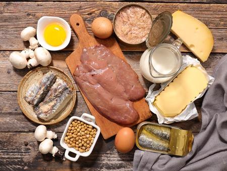 vitamin d, assorted food