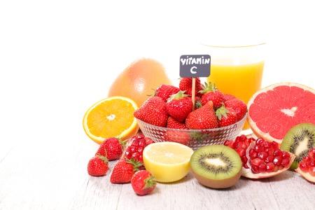 assorted vitamin C food