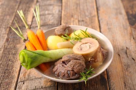 beef with vegetable,pot au feu