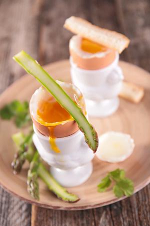 soft boiled egg with asparagus