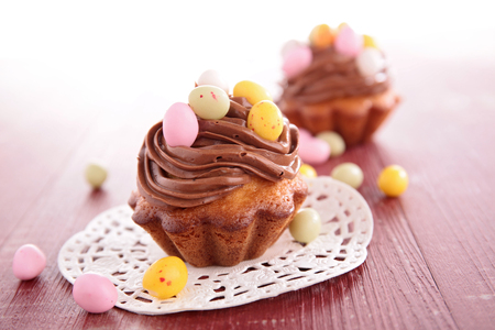 Photo for cake with chocolate, easter egg - Royalty Free Image