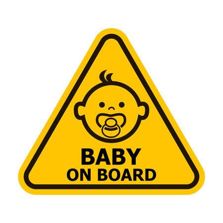 Foto de Baby on board yellow sign. Vector illustration. - Imagen libre de derechos