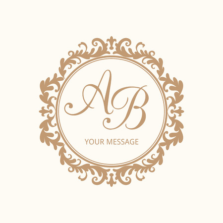 Elegant Fl Monogram Design Template For One Or Two Letters Wedding Calligraphic