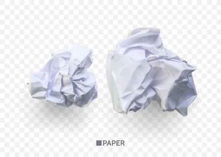Illustration pour Crumpled paper ball. isolated on transparent background. vector illustration for businnes concept, banner, web site and other - image libre de droit