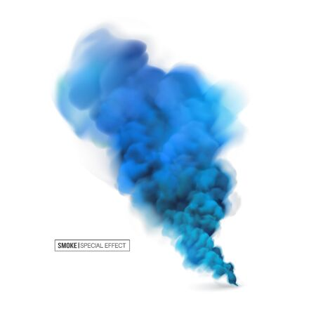 Illustration pour Realistic multi-colored smoke on a white background. Colored smoke bombs.isolated fog or smoke, transparent special effect. Bright magic cloud.Abstract illustration for the design.vector - image libre de droit