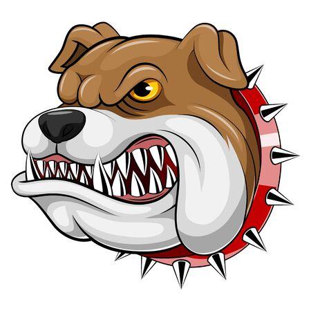 Illustration pour A cartoon mascot Head of an bulldog - image libre de droit