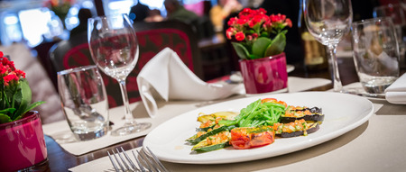 Photo for Fine table setting in a luxurious restaurant - Royalty Free Image