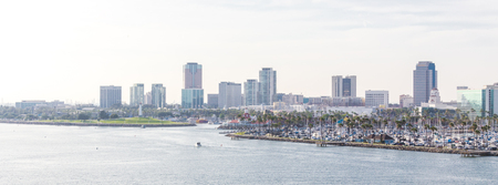 Photo for Long Beach California the USA port skyline with skyscrapers - Royalty Free Image