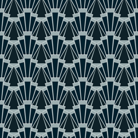illustration of seamless patterns in art deco vintage style