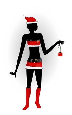 Illustration pour sexy mother christmas - image libre de droit