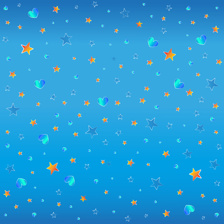 Illustration for blue and orange stars - Royalty Free Image