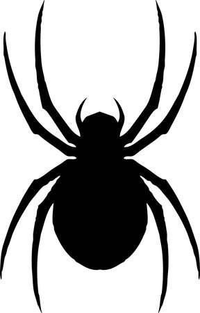 A illustration of a classic iconic spider, the Black Widow.